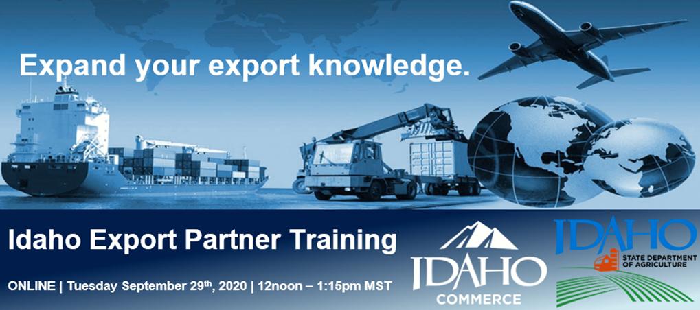 Idaho Export Partner Training – Sept 29 Online